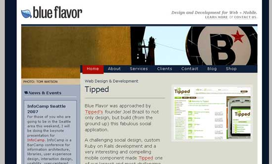 blue flavor header