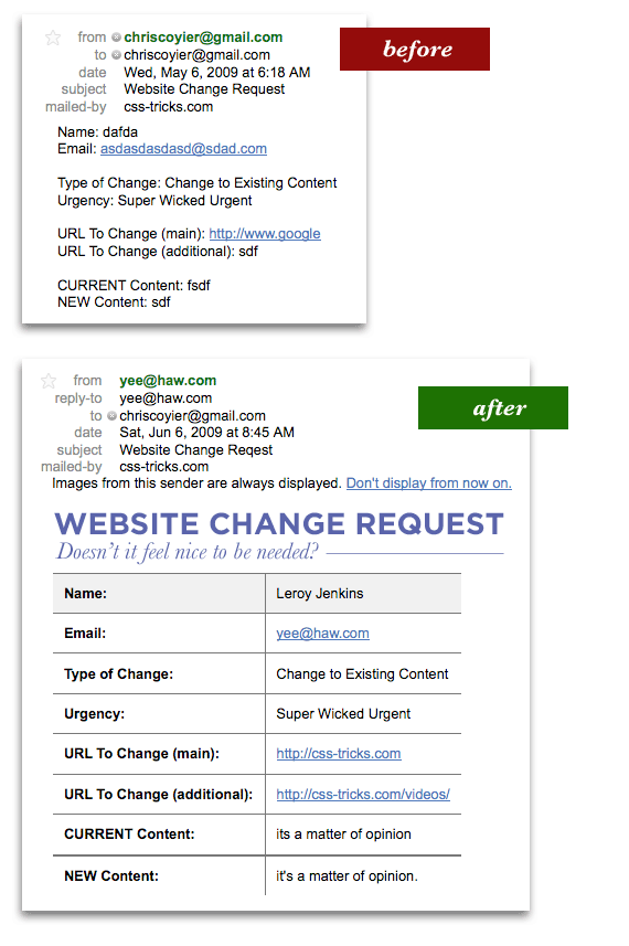 html send information from website to pdf