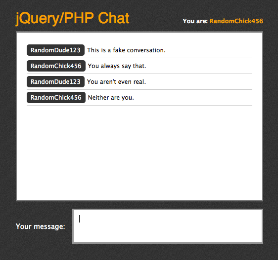 Building A Jquery Php Powered Chat Room Css Tricks