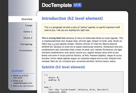 free template doctemplate css tricks