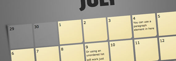 Elastic Calendar Styling with CSS | CSS-Tricks