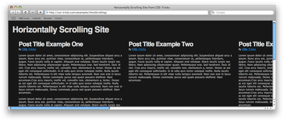 How To Create a Horizontally Scrolling Site | CSS-Tricks