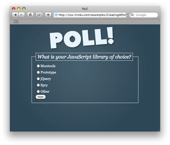 How To Design and Create a PHP Powered Poll | CSS-Tricks