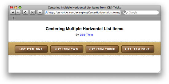 Centering List Items Horizontally (Slightly Trickier Than You Might