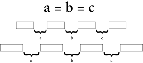 Equidistant Objects with CSS | CSS-Tricks
