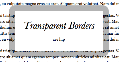 Transparent Borders with background-clip | CSS-Tricks
