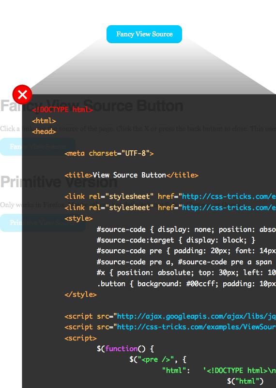 Make a 'View Source' Button | CSS-Tricks