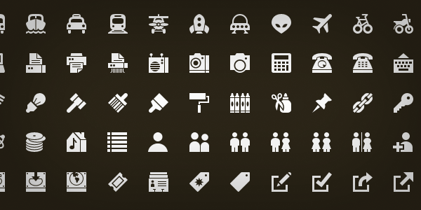 The Big List Of Flat Icons Icon Fonts Css Tricks