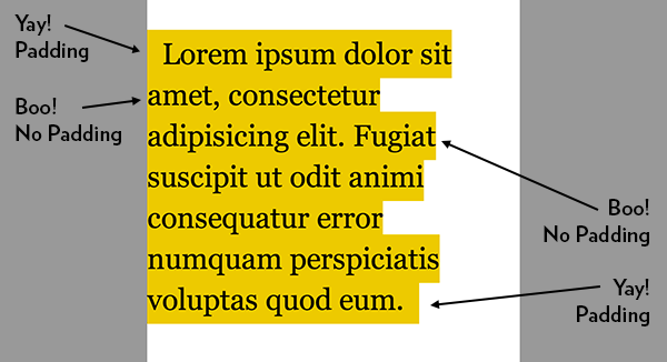 Multi-Line Padded Text | CSS-Tricks