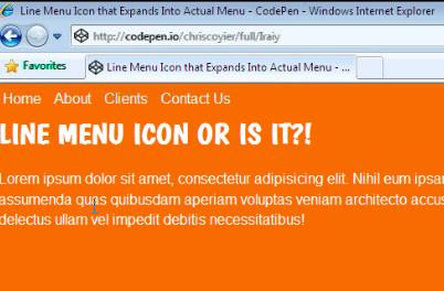 Line Menu Icon    That Is A Menu | CSS-Tricks