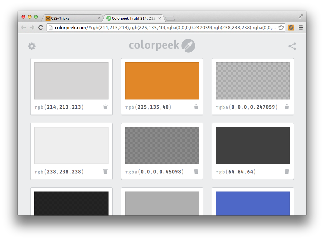 Css background image 64 - Some Of The Background Color Values Used On Css Tricks