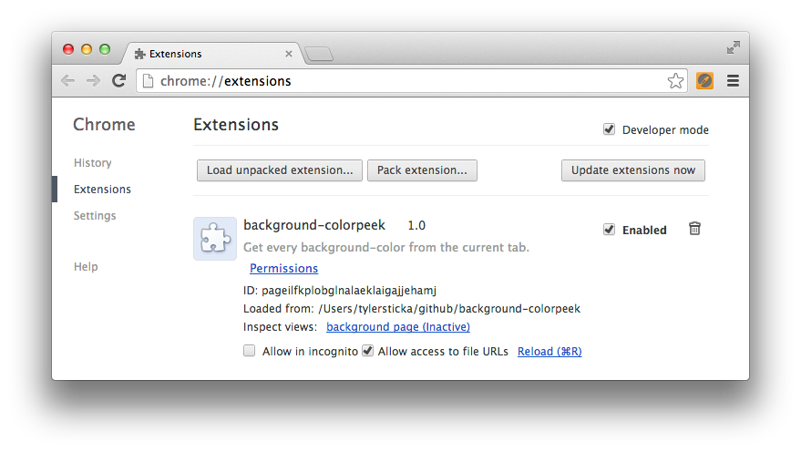 Colorpeek, Part 2: Building Your First Chrome Extension