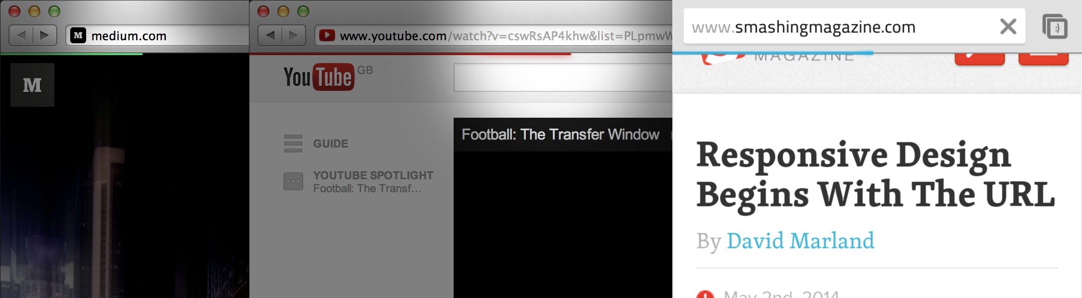 Website loading bars from Youtube, Medium and Chrome Mobile