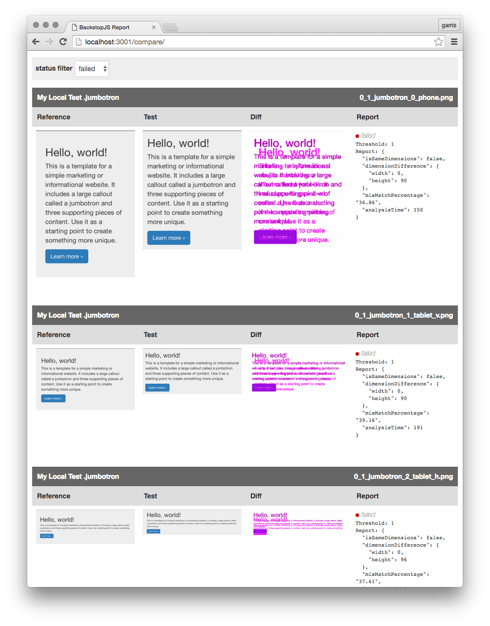 automating css regression testing css tricks