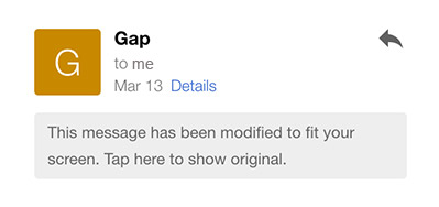 Override Gmail's Mobile Optimized Emails   CSS-Tricks