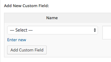 Custom Fields Select
