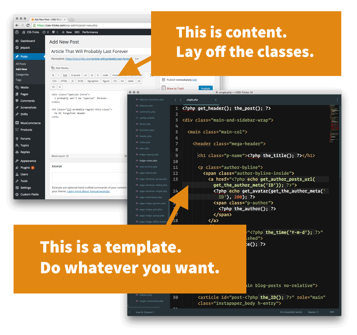 Templates are easy to change. Content usually isn\'t. | CSS-Tricks
