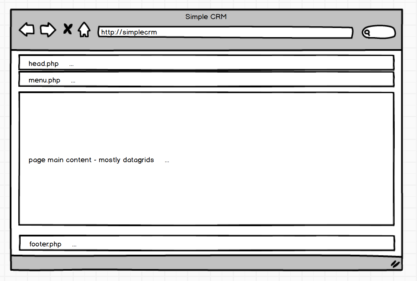 Build a simple crm from start to finish phpgrid php for Simple php page template