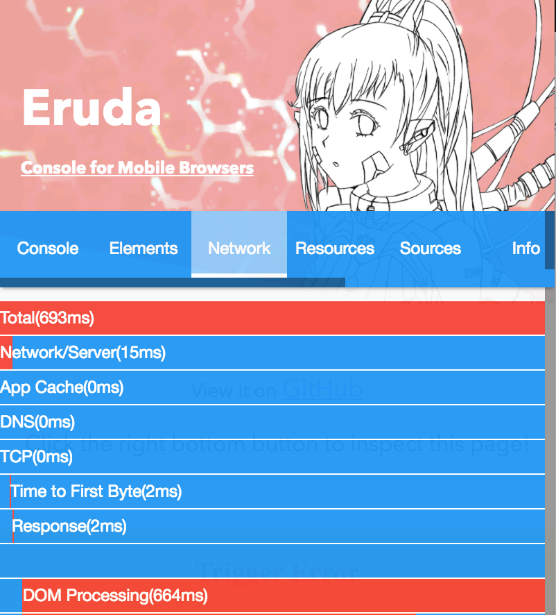 eruda gives you a mobile console
