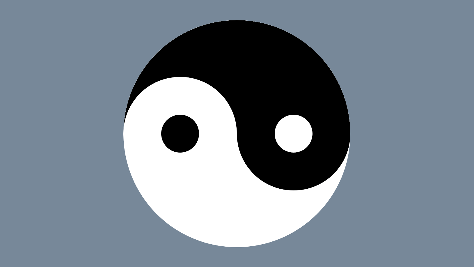 Screenshot of the static yin and yang shape.