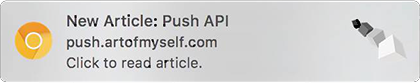 Notification on Mac via Chrome