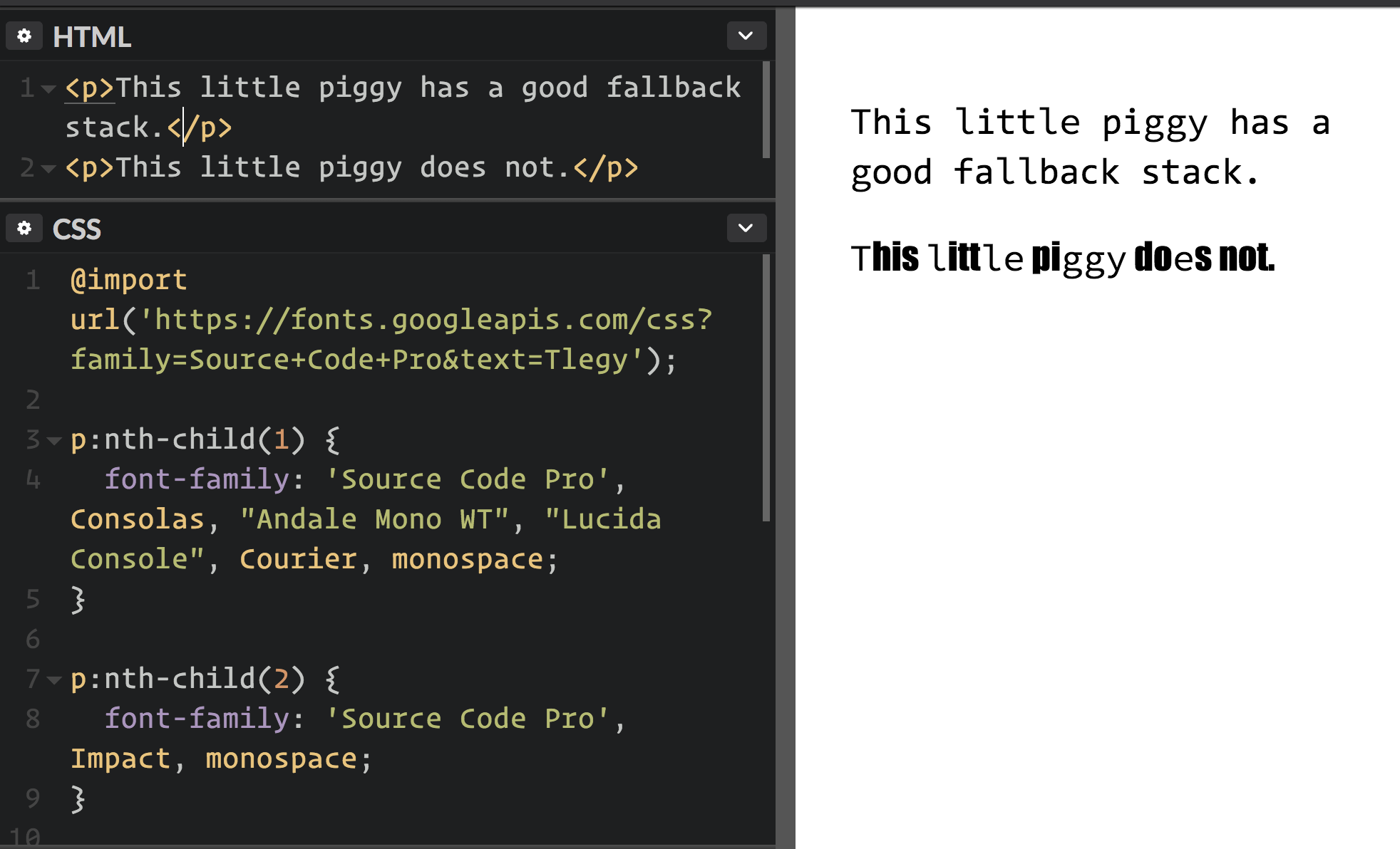 CSS Basics: Fallback Font Stacks for More Robust Web Typography