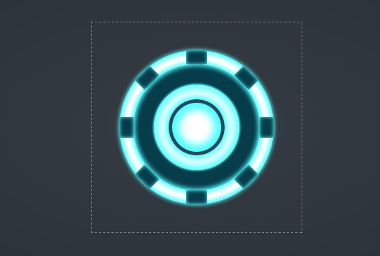 Iron Man's Arc Reactor Using CSS3 Transforms and Animations