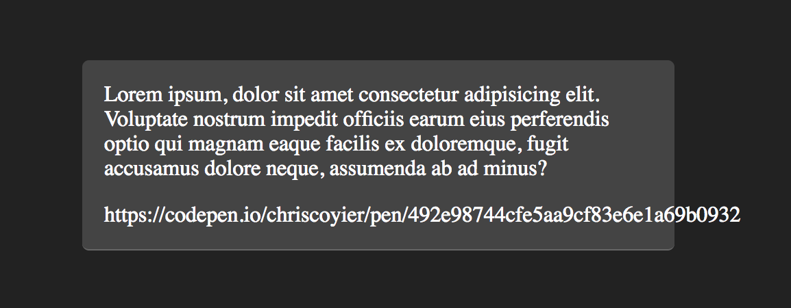 Where Lines Break is Complicated  Here's all the Related CSS and