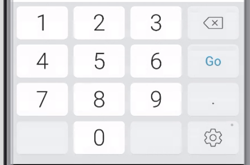 A screenshot of the iOS number keyboard with keys for numbers one through ten.