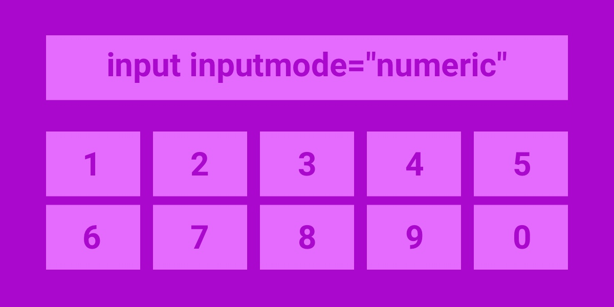 Finger-friendly numerical inputs with `inputmode` | CSS-Tricks