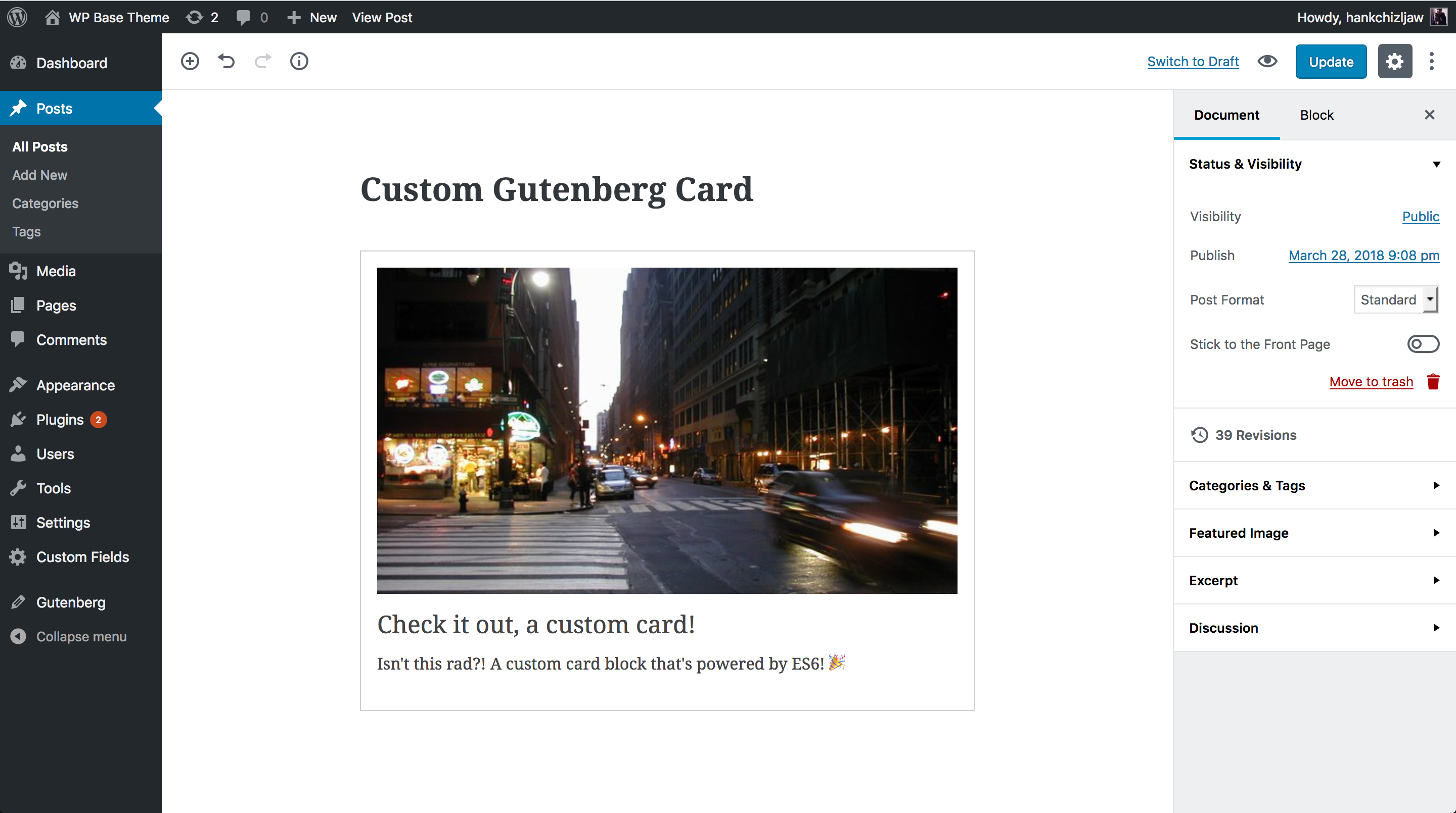 Learning Gutenberg: Building Our Custom Card Block | CSS-Tricks