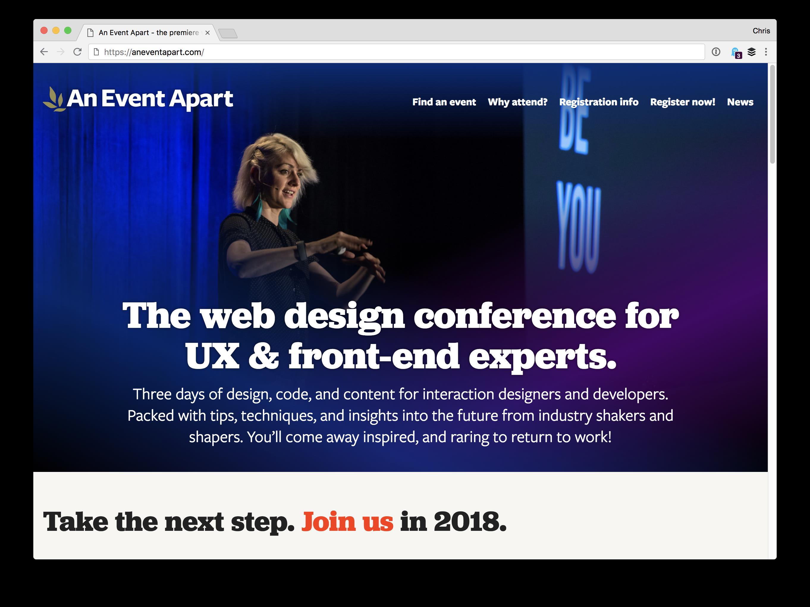 aea An Event Apart design tips