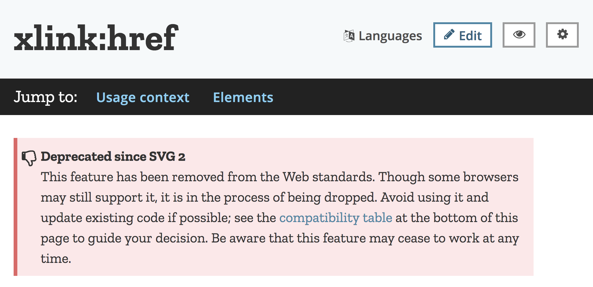 On xlink:href being deprecated in SVG