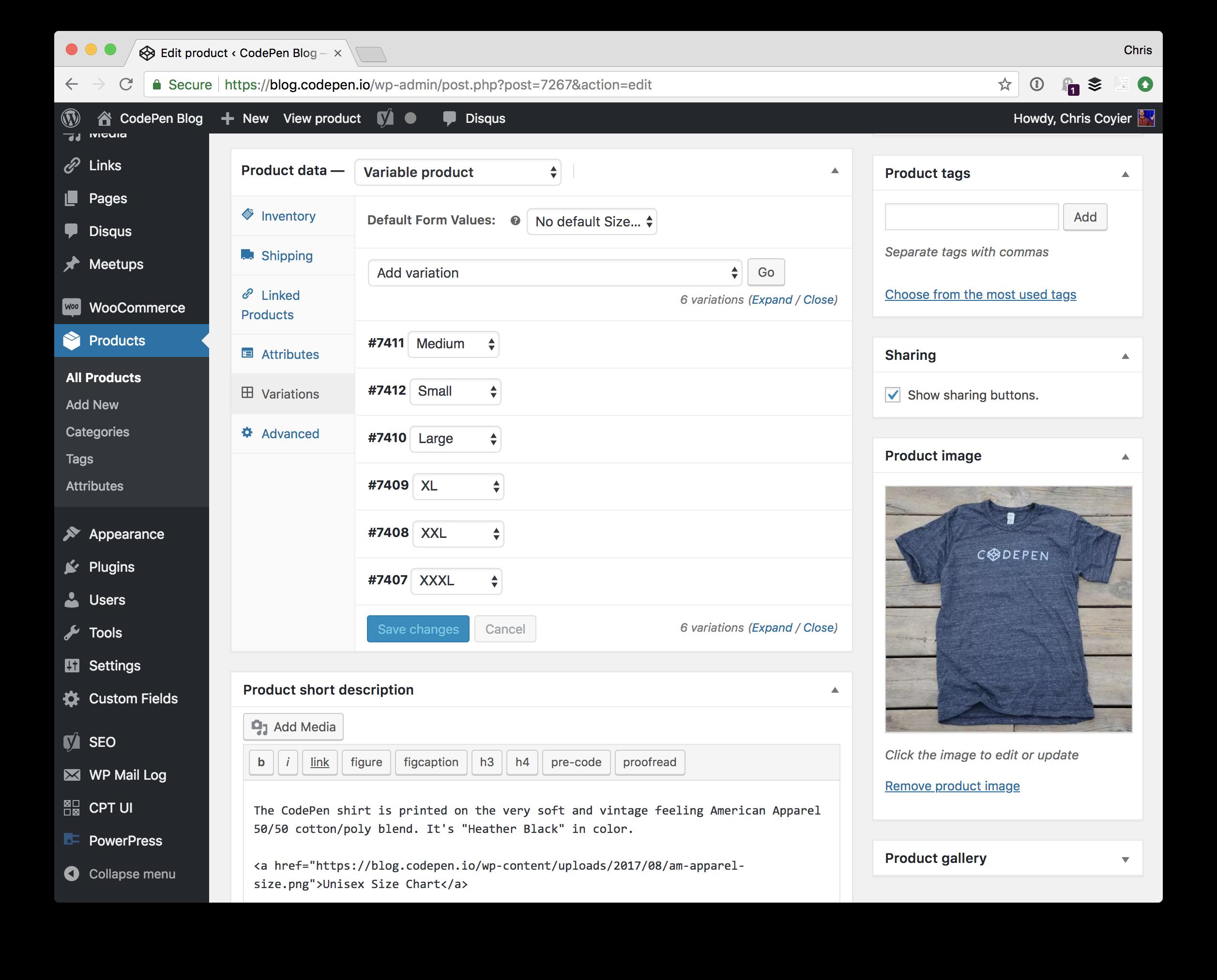 shirt-in-woocommerce A Basic WooCommerce Setup to Sell T-Shirts design tips