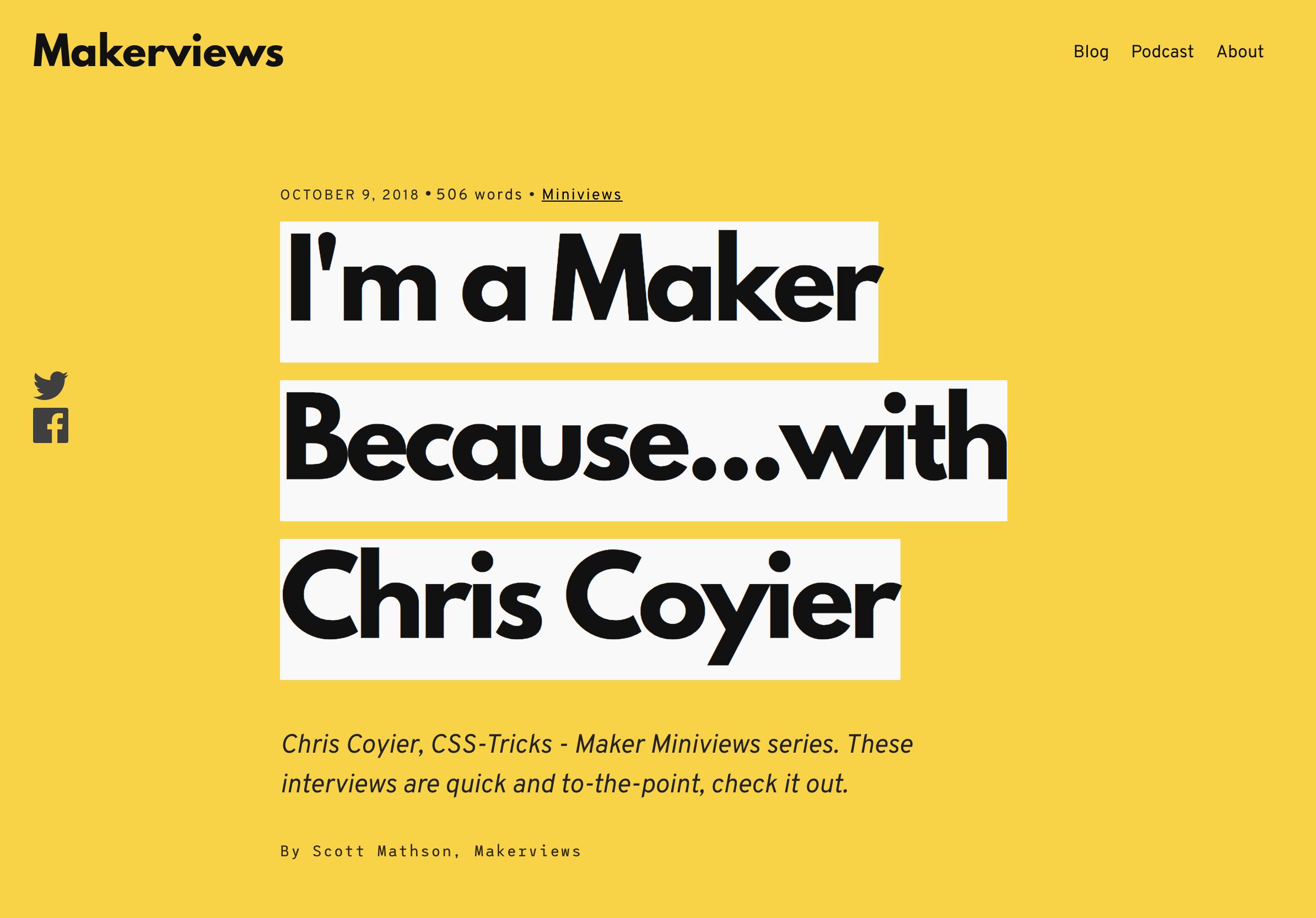 maker CSS-Tricks Chronicle XXXIV design tips