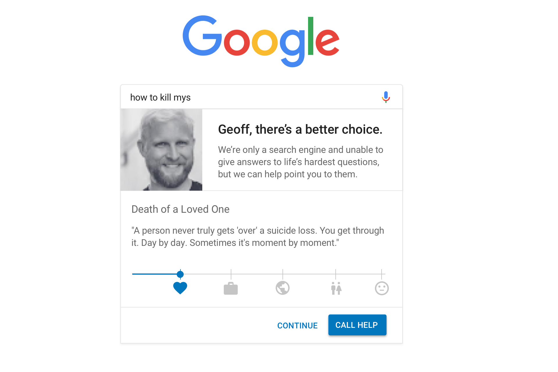 search-ux-03 Preventing Suicide with UX: A Case Study on Google Search design tips