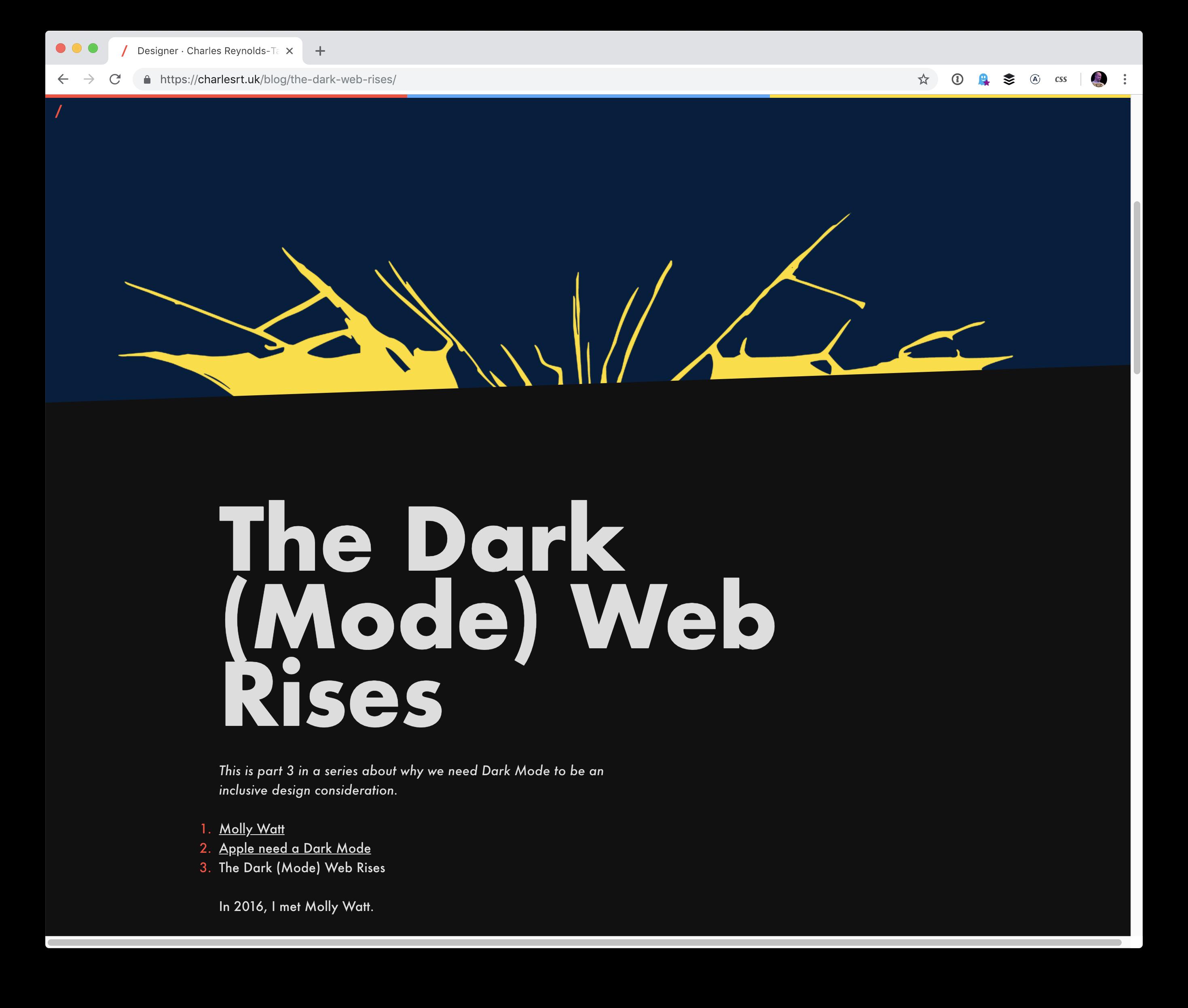 Dark Mode in CSS   CSS-Tricks