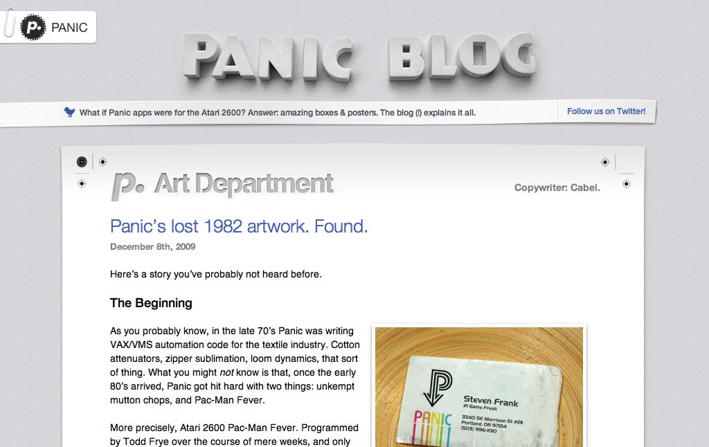 panic Web Designs That Feel Like Ancient History, but Are More Recent Than You Think design tips