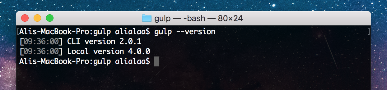 npm install gulp version 4