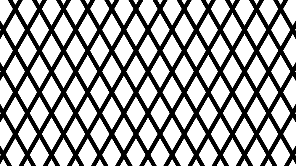 Pattern with white rhombic shapes at the intersection of thick black hashes angled in two different directions.  - pattern bw - Mask Compositing: The Crash Course