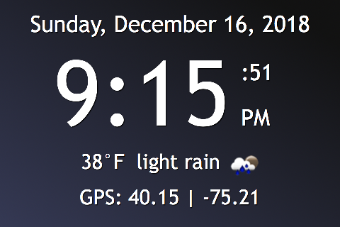 How I Built a GPS-Powered Weather Clock With My Old iPhone 4