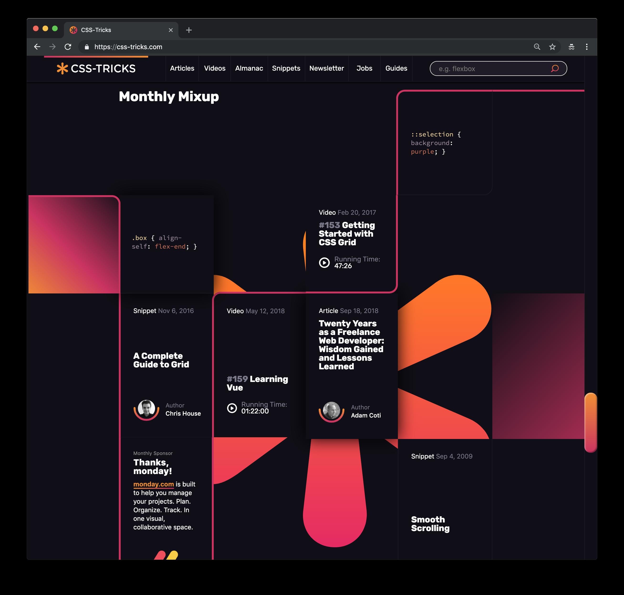 Design v17 | CSS-Tricks