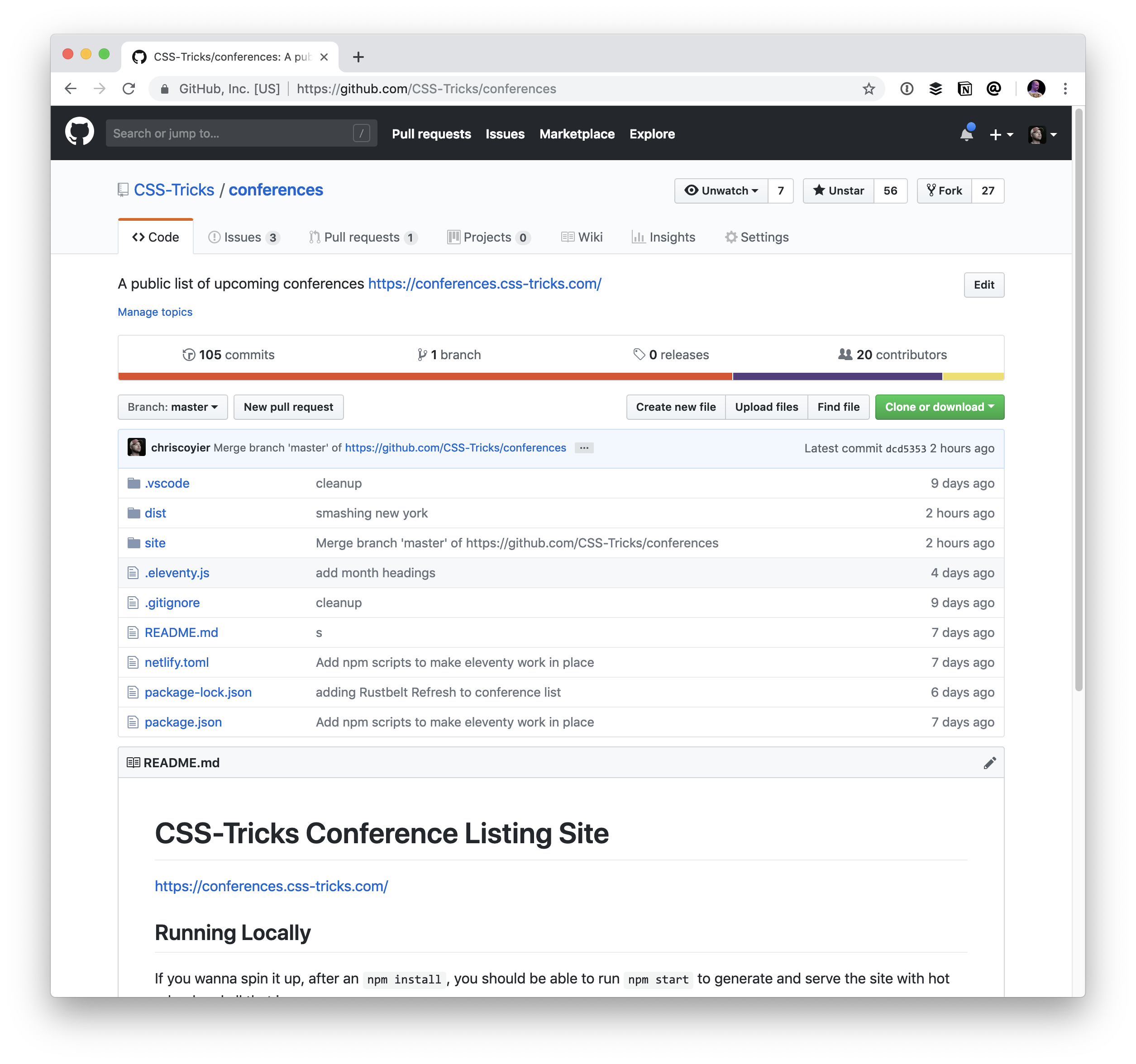 A Site for Front-End Development Conferences (Built with