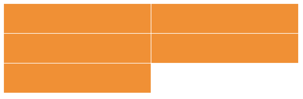 Three rows of orange rectangles. First two rows have two columns, each with a rectangle. Third row has a single rectangle and an empty column.