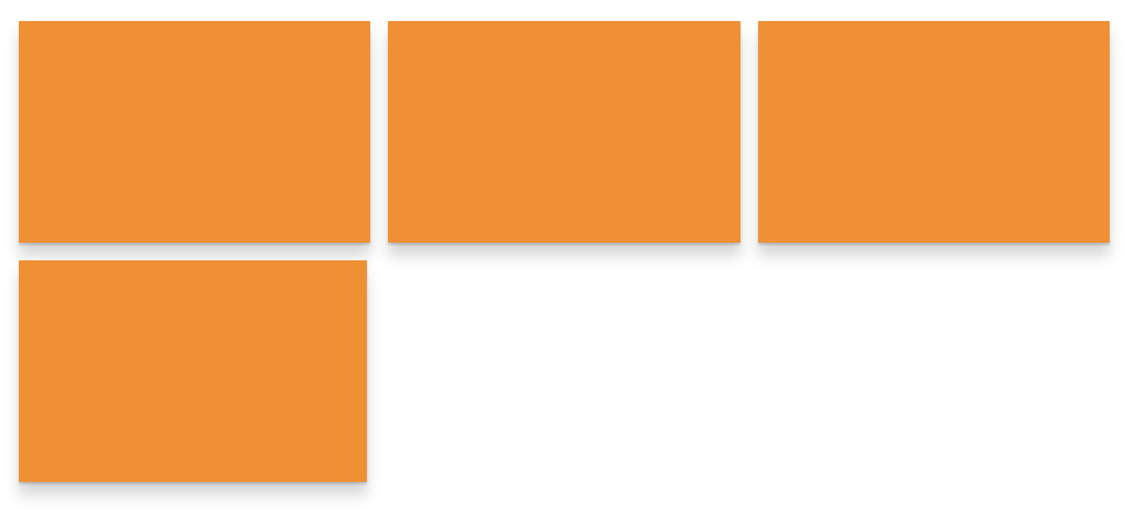 A three-by-two grid of orange rectangles with the last cell empty.