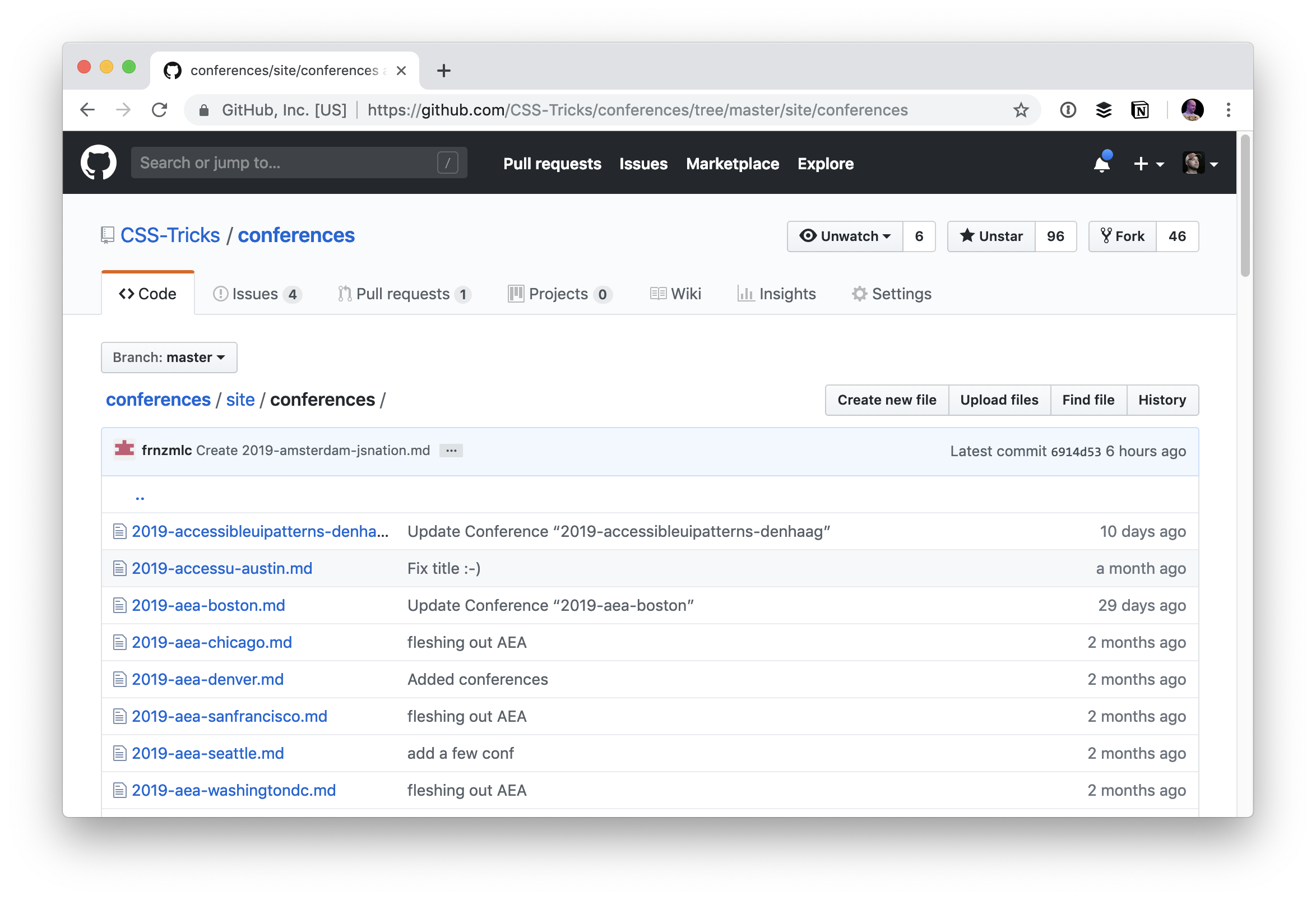 - markdown conferences - It's pretty cool how Netlify CMS works with any flat file site generator