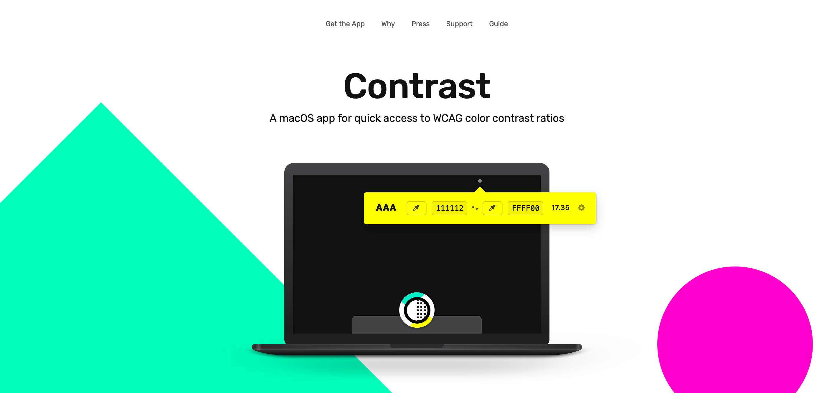 Color contrast accessibility tools