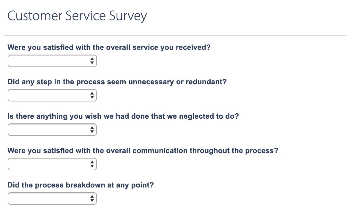 Customer Satisfaction Surveys with Wufoo