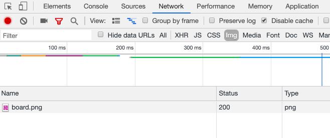 Chrome DevTools showing png downloaded