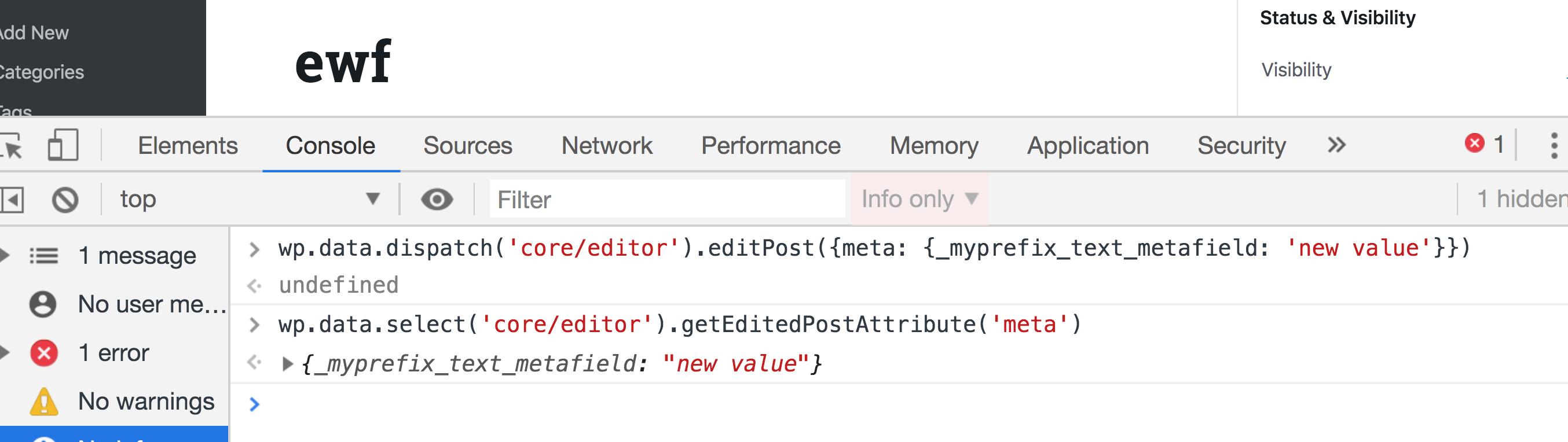 Managing WordPress Metadata in Gutenberg Using a Sidebar